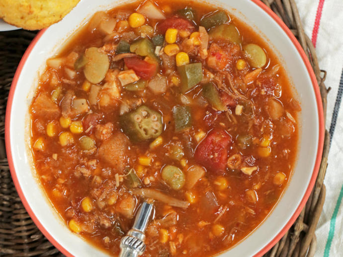 Brunswick stew made with chicken is the best.