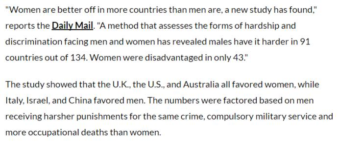 New Study Shows Women Are Better Off Than Men And Men Face More Discrimination Than Women