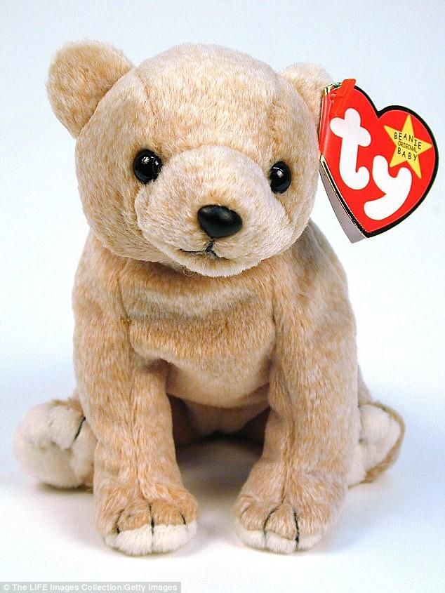 I had this Beanie Baby bear. I believe his name was Almond.