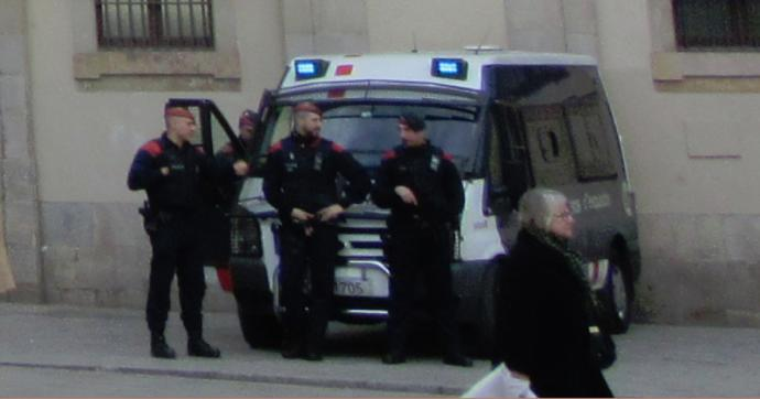Police Men Armed To The Teeth