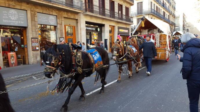 Catholic Festival In Barcelona