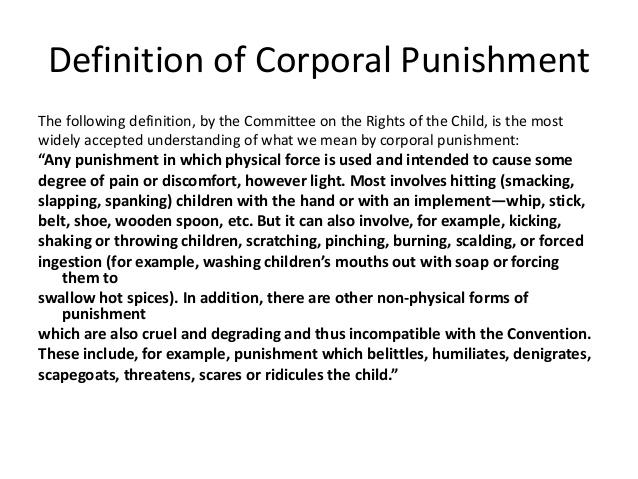 Why corporal punishment (spanking etc) is bad for your child.