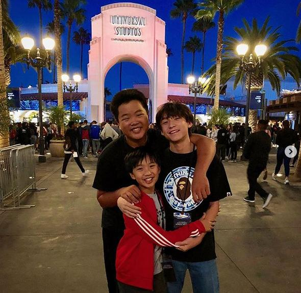 Hudson Yang (on the left) 15-years-old, Forrest Wheeler (on the right) 14-years-old, Ian Chen (middle), 12-years-old.