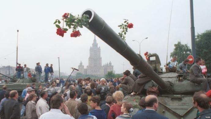 Pacified Soviet tank