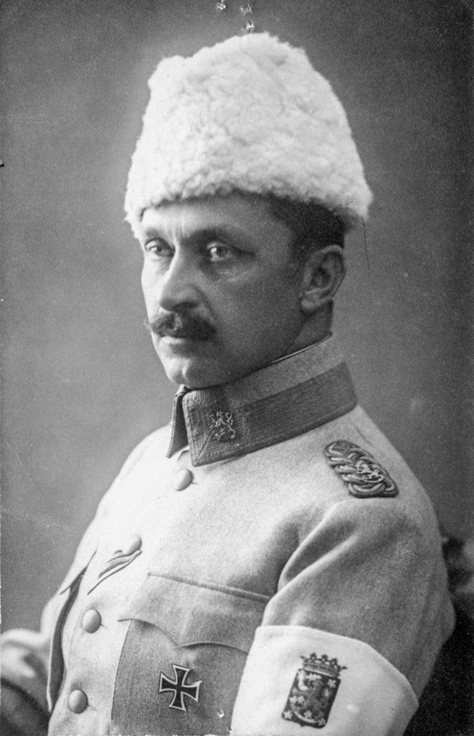 CGE Mannerheim who would once against defend Finland from communism during the Winter war