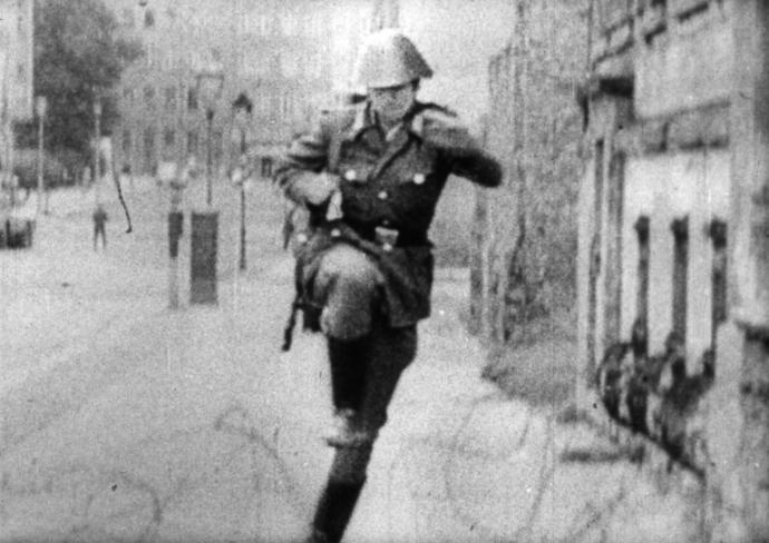 Conrad leaping over to West Germany