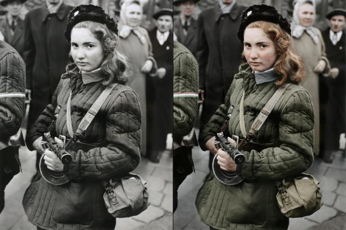 A 15 year old anti communist freedom fighter that sadly didn't survive the revolution.