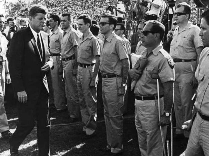 JFK and members of the Democratic revolutionary front
