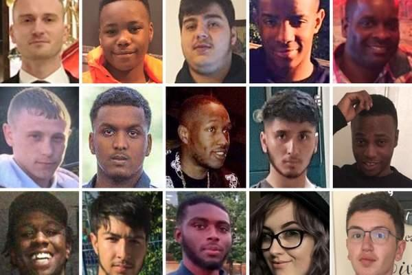 Victims of knife crime in England