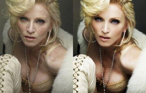Don't we all know that Madonna is old?? What's the point in trying to hide her age and making her look like an alien??