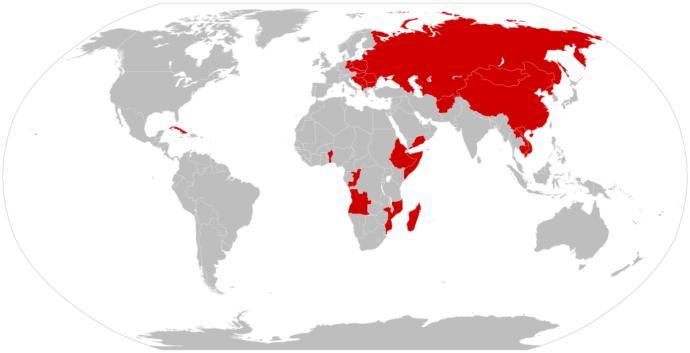 Communist expansion during Cold War