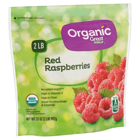 Bag of organic raspberries for better flavonols in the blood