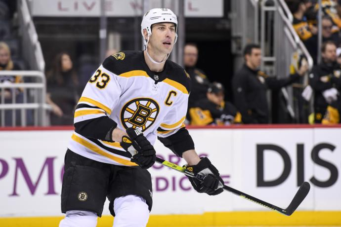 Now as the Boston Bruins Captain (42 years old)