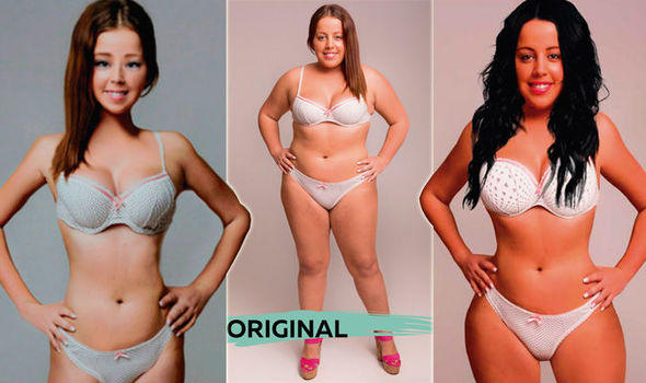 Ideal bodies in 1. Brazil 2. UK and 3. US