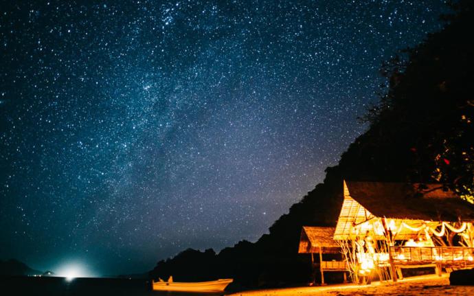 Night sky in El Nido