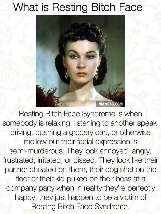 Struggles of a girl with a resting bitch face