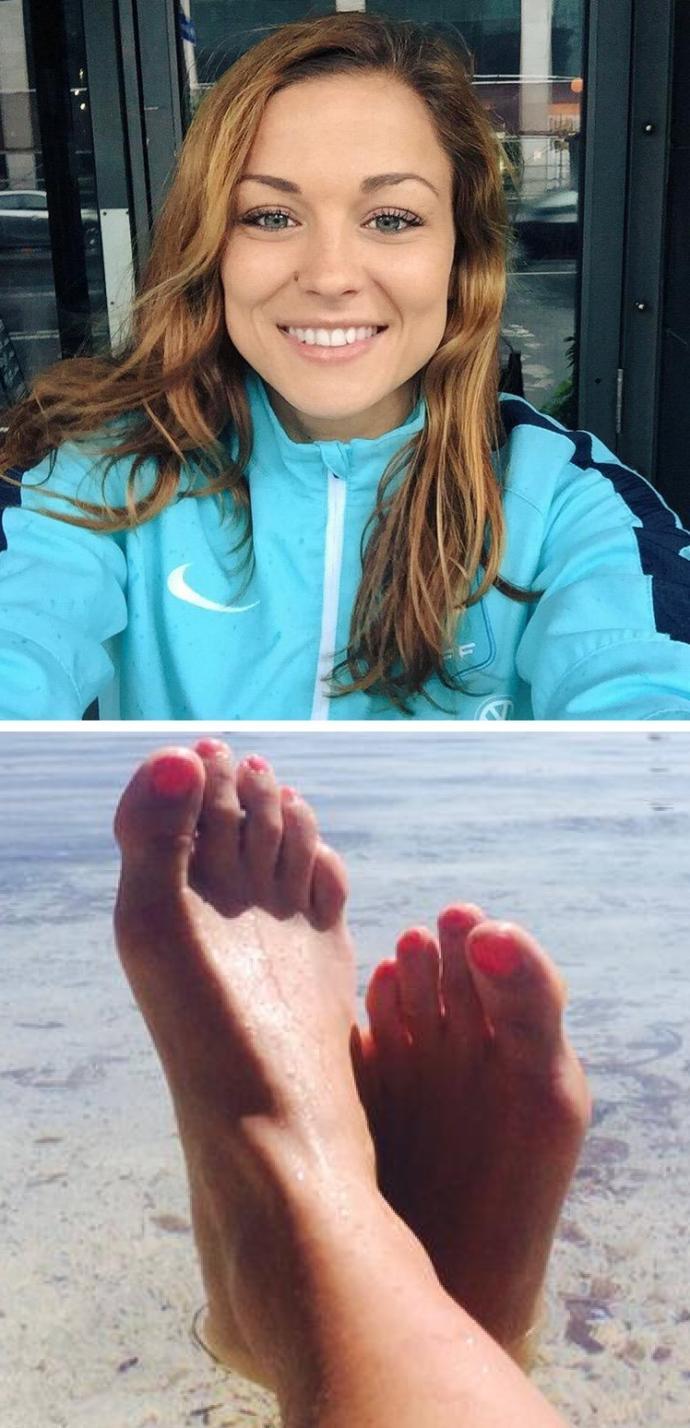 The Feet Of Women's Soccer