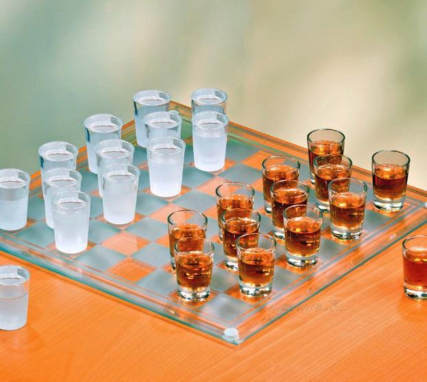 Shot Glass Checkers Set gift