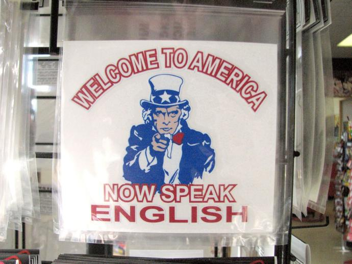 America Land of the Free.. Free to speak English only