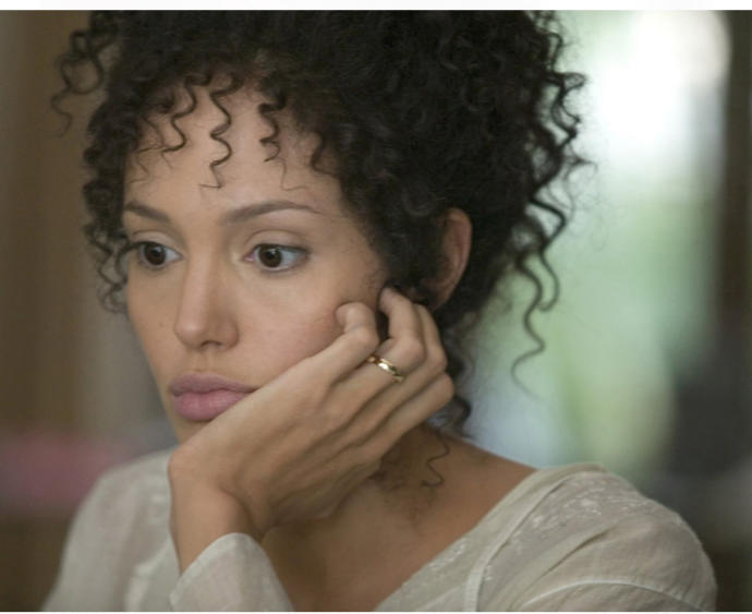"""Angelina Jolie playing a black woman in """"A mighty Heart"""""""