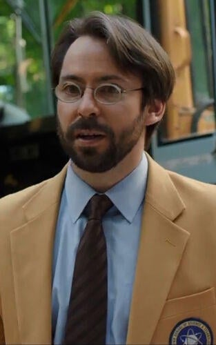 Mr. Harrington played by Martin Starr