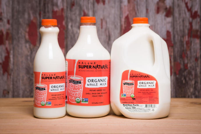 More non homogenized cream top milk which is organic too