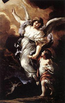 Angel in full glory and protection