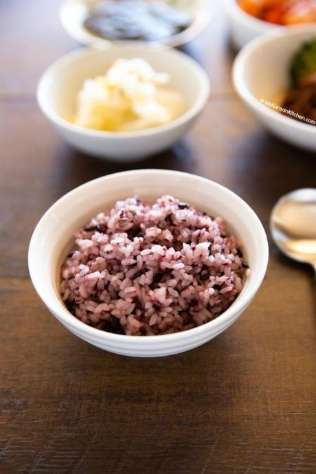 Purple Rice in a Rice Bowl