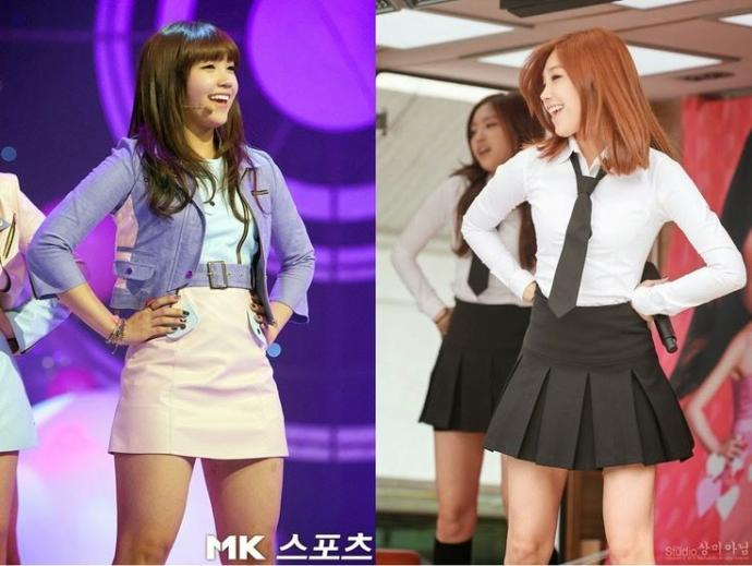 Jung Eun-ji Before (Left) and After (Right)
