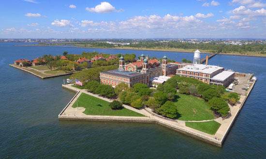 Present Day Ellis Island. 2019, Located in New York City.