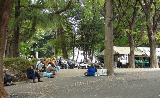 The Homeless at Ueno Park.