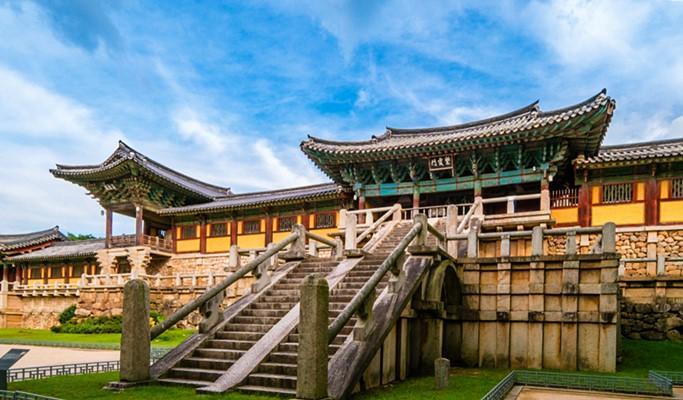 Bulguksa Temple, a UNESCO World Heritage Site.