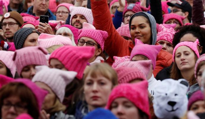 Many liberal celebrities took part in the women's march.