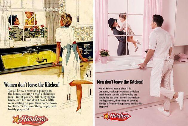 A feminist remake of 1950s sexist ads