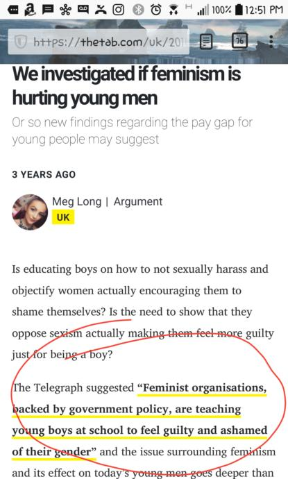How feminism is harming young men. Even if it helps women, and rightfully complains about older men.