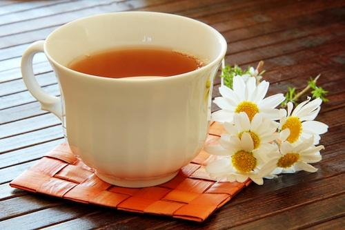 Chamomile tea- soothes and settles.