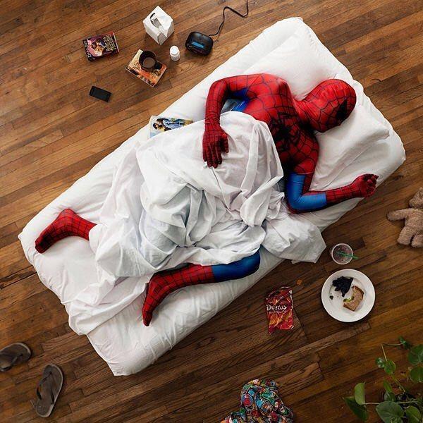Spidey Sleeping 😂
