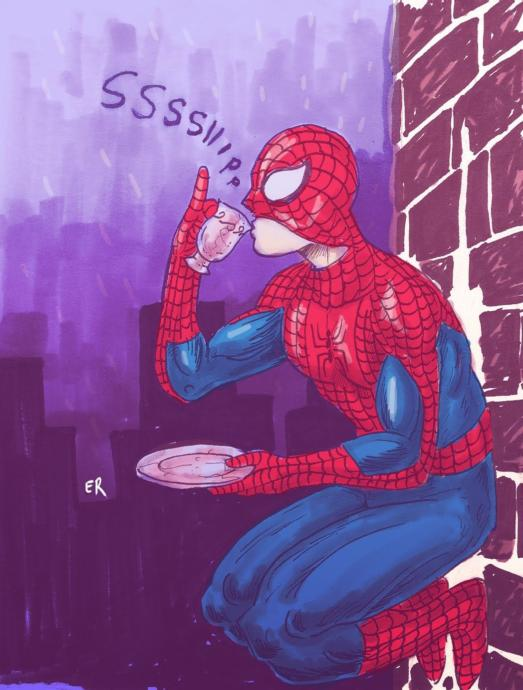 Spidey Sipping Tea 😂