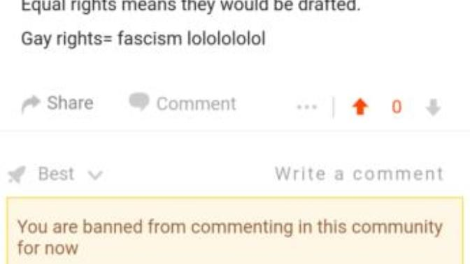 Rate this ban from Reddit?