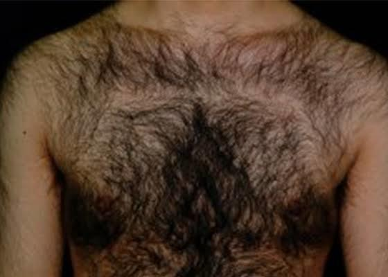 Men can be hairy yet appealing to the women!