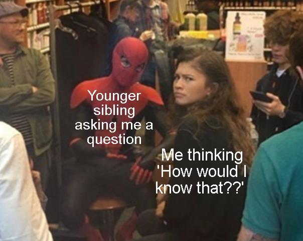 Me as an older sibling xD