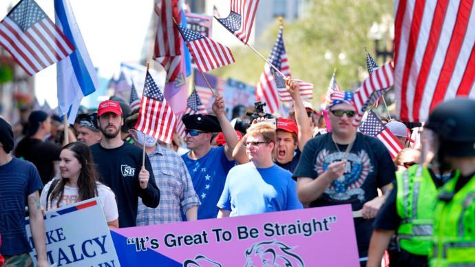 Straight pride parade