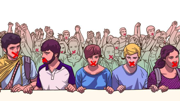 A hypothetical dystopian scenario of a world dominated by radical left wing totalitarianism