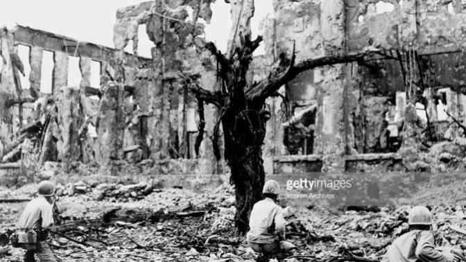 Shuri Castle didn't burn down yesterday, it burned down 74 years ago by Heroic Men!