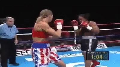 "Ann Wolfe(5'9"") Knocking out Vonda Ward(6'6"")"