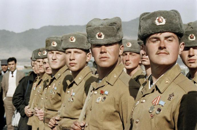 Soviet troops in Afghanistan