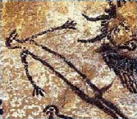 Prehistoric Frenchman Wearing Improvised Condom