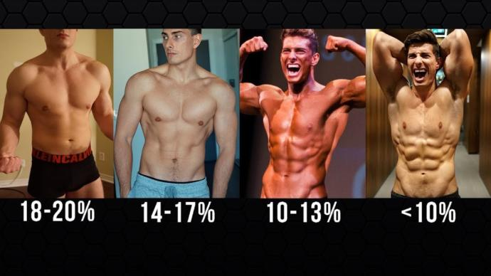 Same guy at different body fat %s