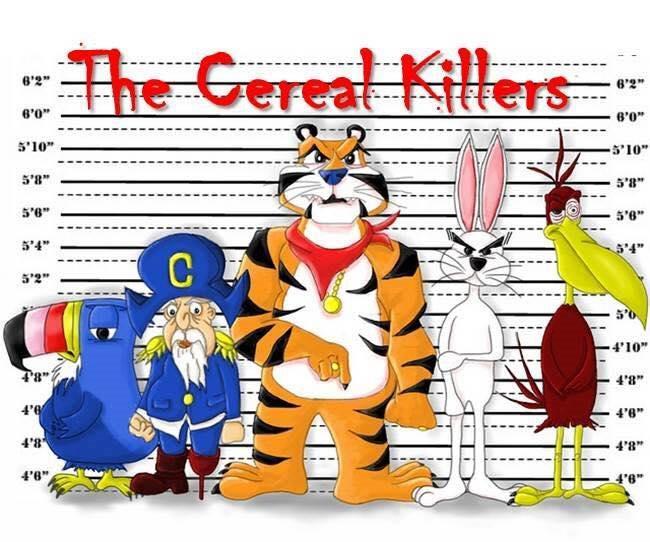Cereal killers/serial killers . . . dark humor!