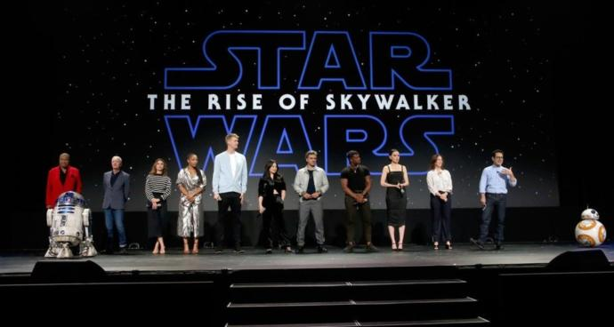 The cast of Rise of Skywalker